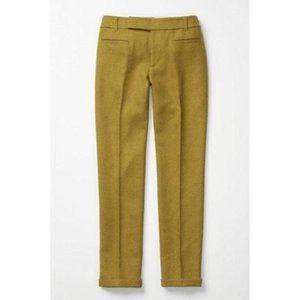 ANTHROPOLOGIE Wool Chartreuse Pants {NN41}